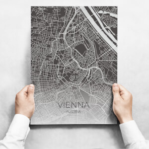 Obraz - Map Of Vienna