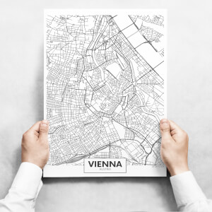 Obrazy - Map of Vienna