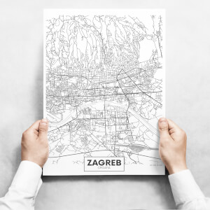 Obrazy - Map of Zagreb