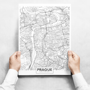 Obrazy na stěnu - Map of Prague
