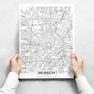 Obrazy na zeď - Map of Munich